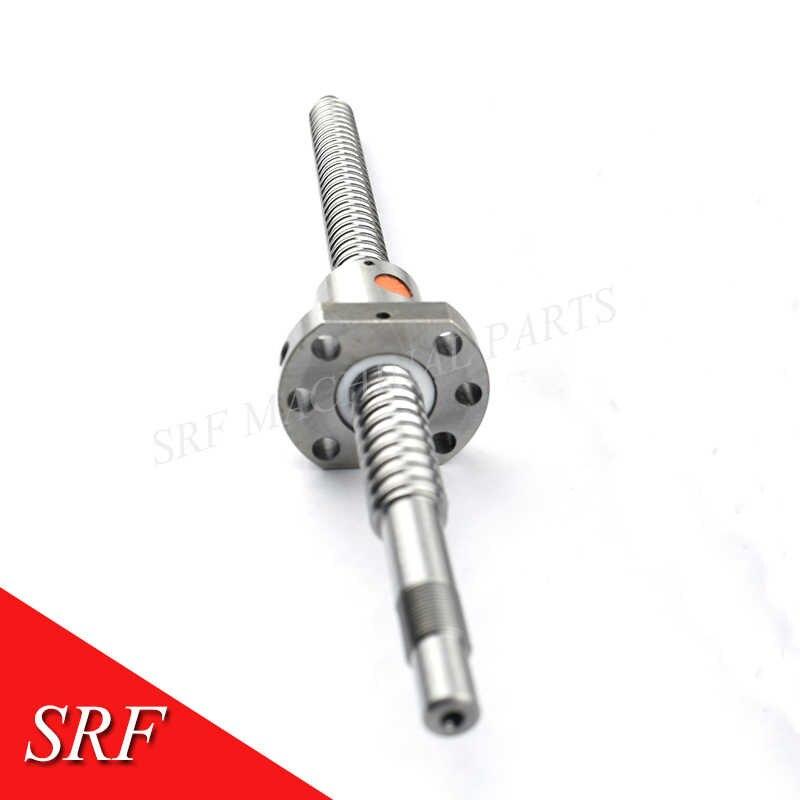 16 millimetri RM1604 Rotolato Vite A Sfere L = 1500 millimetri C7 Vite A Sfere + SFU1604 singolo Ballnut con BK/BF12 fine lavorazione CNC parti