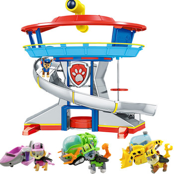 Paw Patrol dog Toys Rescue Base Command Center Puppy Patrol Set Patrulla Canina Anime Action Figures Model Toy for children Gift new kids toys canine patrol dog dolls model anime doll action figures car patrol puppy toy children gifts sets free shipping