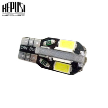 цена на W5W T10 Car Led Bulbs 10 SMD Side Wedge Dome Light Reading Turn Signal Lamp 194 168 5630 White Warm White 12V