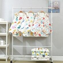 цена на Blanket for Baby Hooded Blanket Cotton Wraps Swaddling Newborn Infant stroller Nursing Sleeping sack bag YMM033