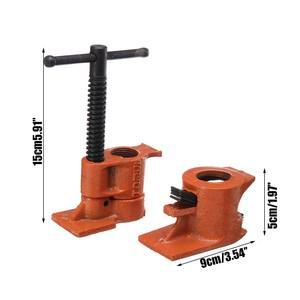 Image 4 - 3/4 Inch Heavy Duty Pipe Clamp for Woodworking Wood Gluing Pipe Clamp Steel Cast Iron Pipe Clamp Fixture Carpenter Hand Tool