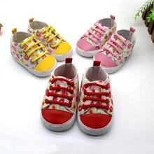 1 пара цветочный новинка подошва противоскользящая для новорожденных для малышей с T-образным хвостом парусина обувь популярная популярная для младенцев для малышей мягкая удобная обувь