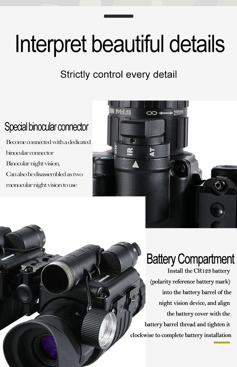 Haae27e68c5844b3194613914c9184fc65 - แว่นมองภาพกลางคืน กล้องมองภาพในที่มืดติดหัว IR Night Vision แว่นกลางคืน อินฟาเรตจับความร้อน เกรดใช้ในกองทัพทหาร ปฏิบัติการยุทธวิธีกลางคืน  <ul>  <li>แว่นตามองกลางคืนแบบสวมหัว</li>  <li>แว่นอินฟาเรต จับภาพด้วยความร้อน</li>  <li>ผลิตภัณฑ์เกรดกองทัพ</li>  <li>สามารถแยกส่วนเป็น 2ชิ้น ซ้าย-ขวา</li>  <li>มีฟังชั่นการซูมแบบกล้องส่องทางไกล</li>  <li>ของแท้ การรับประกัน 1ปี โดยผู้ผลิตในต่างประเทศ</li> </ul>