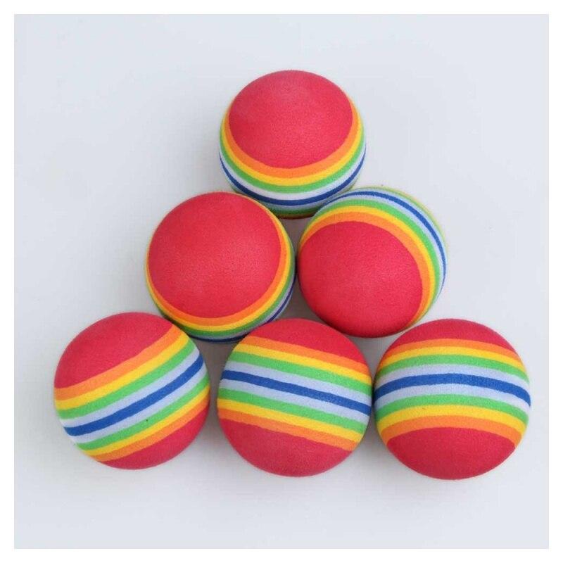 prática esponja espuma arco-íris bolas