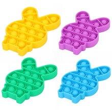 Jeu de bulle Antistress pousser sensoriel Fidget jouets enfants drôles aide à soulager le Stress jouets de compression doux pieuvre dinosaure lapin forme