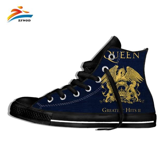 Men's Casual Shoes Canvas Casual Shoes Queen Band Royal Crest Logo Random Hip Hop Rock Hipsters Customize Pattern Color Shoes