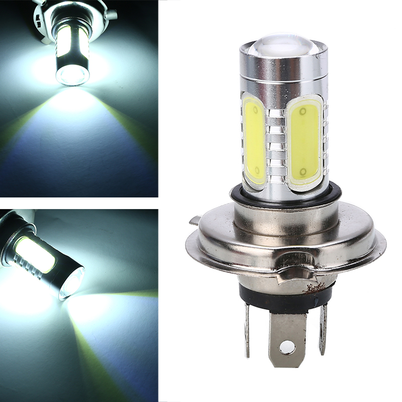 For Honda 1PC H4 9003 6000K Motorcycle Headlight Energy Saving Lamp High Power COB LED Bulb White High/Low Beam Lights Treyues