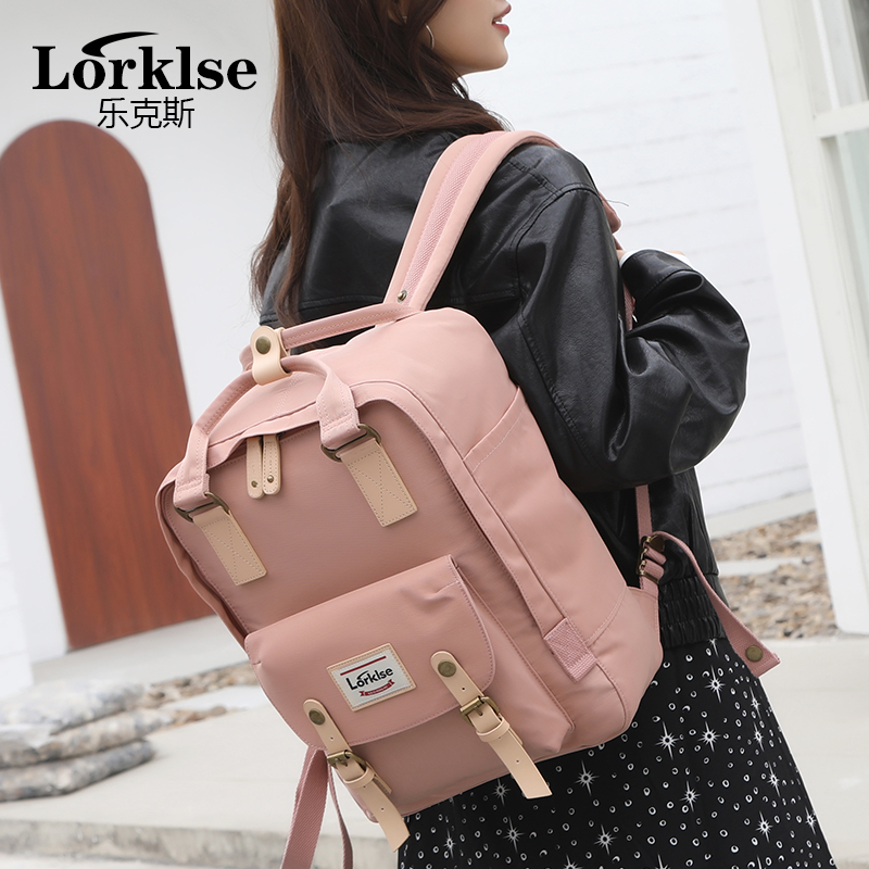 New Waterproof Canvas Kids Backpack Girls For Middle School Students Travel Shoulder Backpacks Children Solid Color Travel Bag