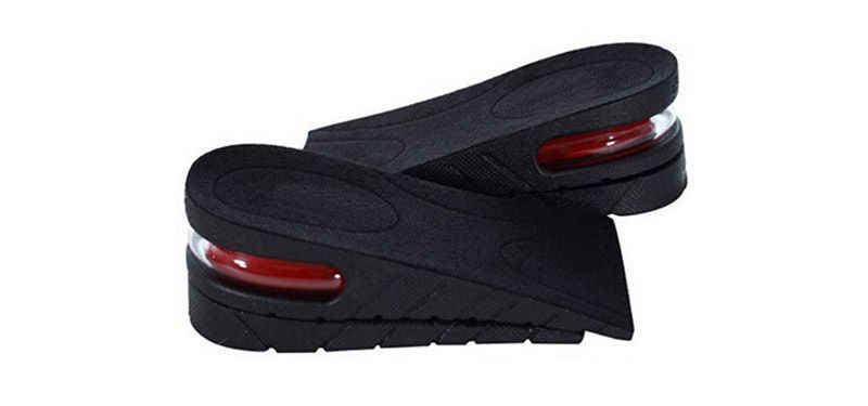 2 ชั้นปรับได้ 5 ซม.การออกแบบตามหลักสรีรศาสตร์ Air Cushion ที่มองไม่เห็นแผ่นยกความสูงเพิ่มพื้นรองเท้าสำหรับผู้ชายผู้หญิงรองเท้า