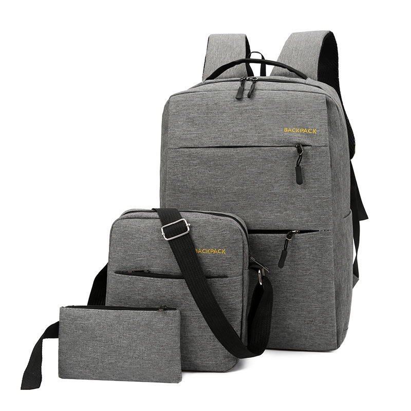 3 In 1 Laptop Bag For 15.6 Inch With External USB Charging Computer Backpack Casual Waterproof Teenager Travel Business Bag