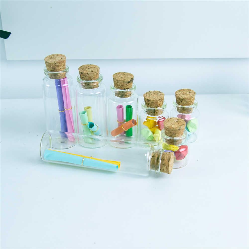 10ml 15ml 20ml 25ml 30ml 40ml szklane butelki z korkami puste butelki słoiki pojemniki fiolka rzemiosło butelka słoik 50 sztuk darmowa wysyłka