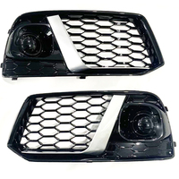 Fit For Audi new Q5 Q5L 2018 2019 Fog Light Grills Car Front Bumper Fog Lamp Grills in Racing Grills ABS Replacement