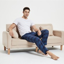 2021Autumn and Winte Thick Warm Men's Home Pants 100% Brushed Cotton Trousers Plus Size Loose Home Pants Pajama Pants Men