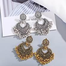 1 par de brincos para acessórios femininos sinos indiano jóias brincos para meninas moda vintage brinco pendurado presente kolczyki