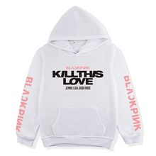 BLACKPINK Series KILL This LOVE Related Products Should Aid Men And Women Celebrity Style Loose-Fit Hoodie Men's Sweatshirts & H(China)