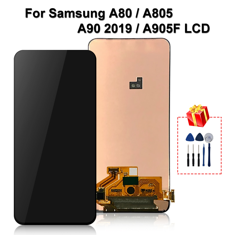 Original For <font><b>Samsung</b></font> <font><b>Galaxy</b></font> <font><b>A80</b></font> A90 <font><b>LCD</b></font> SM-A805 A805 A805F Display Touch Screen Digitizer Assembly A905 Display For <font><b>A80</b></font> <font><b>LCD</b></font> image