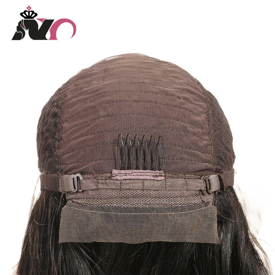 NY Density 200% Lace Frontal Wig Pre Plucked With Baby Hair Brazilian Straight Human Hair Non Remy Handmade Lace Frontal Wigs