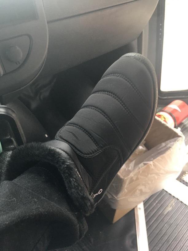 Warm Plush Waterproof Woman Snow Boots photo review