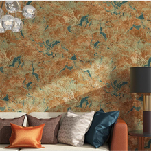 Vintage imitation marble wallpaper mottled diatom mud gray wall paper living room clothing store industrial wind