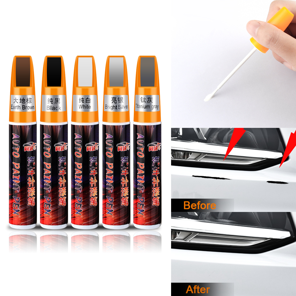 Car Mending Fill Paint Pen Waterproof Repair Painting Scratch Clear Remover For Audi A1 A3 A4 B6 B8 B9 A5 A6 A7 A8 Q7 Q3 Q5 RS