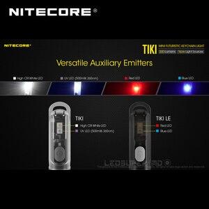 Image 3 - Mini fütüristik NITECORE TIKI/ TIKI LE USB şarj edilebilir ışıklı anahtarlık dahili Li ion pil