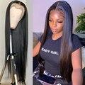 30 32 дюймов человеческие волосы полные парики фронта шнурка Боб передние парики для чернокожих Для женщин бразильские волосы человеческие к...