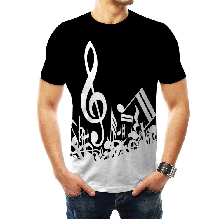 2020 venda quente verão 3d impresso música nota t camisas das mulheres dos homens roupas raper guitarra streetwear engraçado hip hop mais tamanho