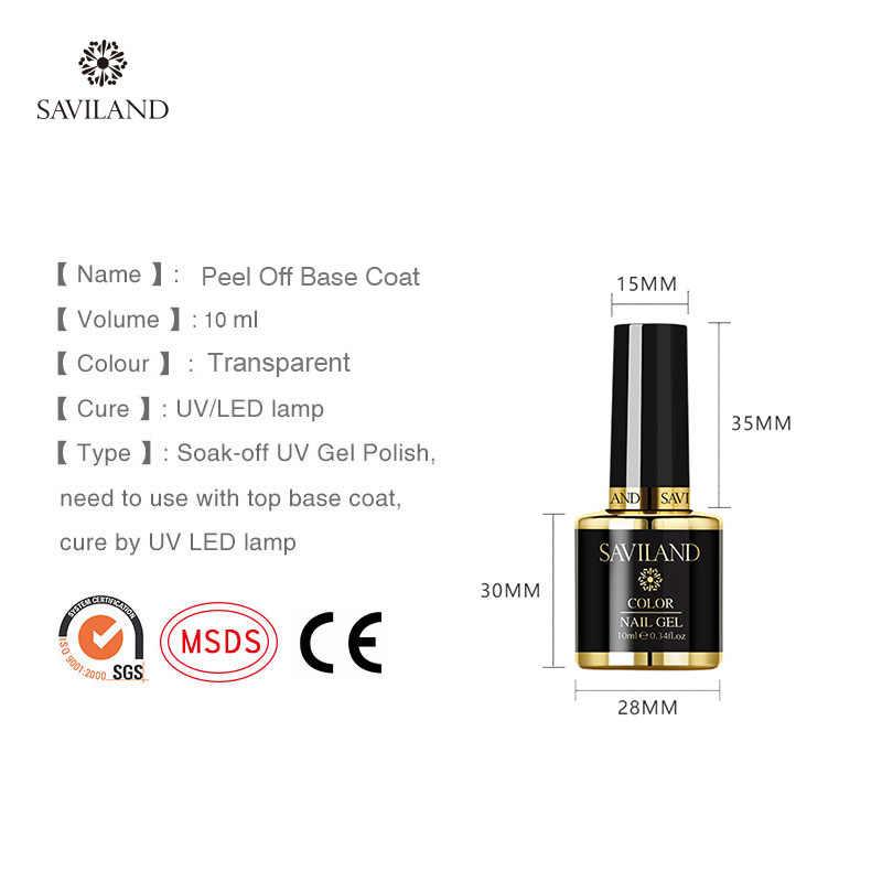SAVILAND 10ml Peel Off Base Coat Gel Nagellak Gel Lak Foundation Clear UV Gemakkelijk Primer Gel Lak voor nail Art Design