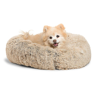 60cm Soft Warm Round Pet Bed Donut Comfortable Pet Nest Dog Cat Washable Kennel Easy To Clean Pet Supplies Warm House For Pet