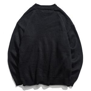Image 4 - New Dinosaur Lovely Sweater Men Winter Pullover Mens Sweaters Oversized Boy Student Sweater Black Khaki