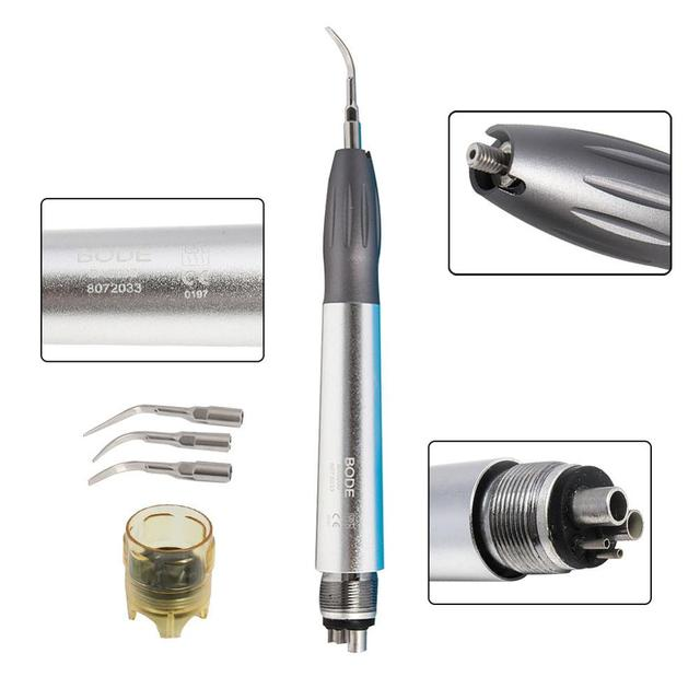 Dental Ultrasonic Scaler Midwest 4Holes M4 Scaler Handpiece with 3 Tips G1/G2/G3 Upgrade