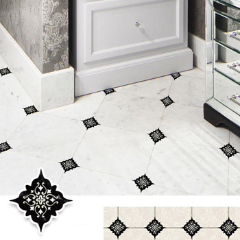 15PCS 8x8cm Retro Design Home Decoration Stickers Wall Stickers Self Adhesive Floor Wall Ceramic Tile Sticker DIY Wall Decor 1