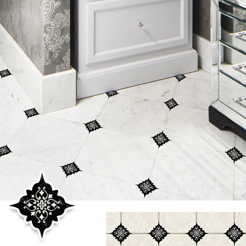15pcs 8x8cm retro design home decoration stickers wall stickers self adhesive floor wall ceramic tile sticker diy wall decor