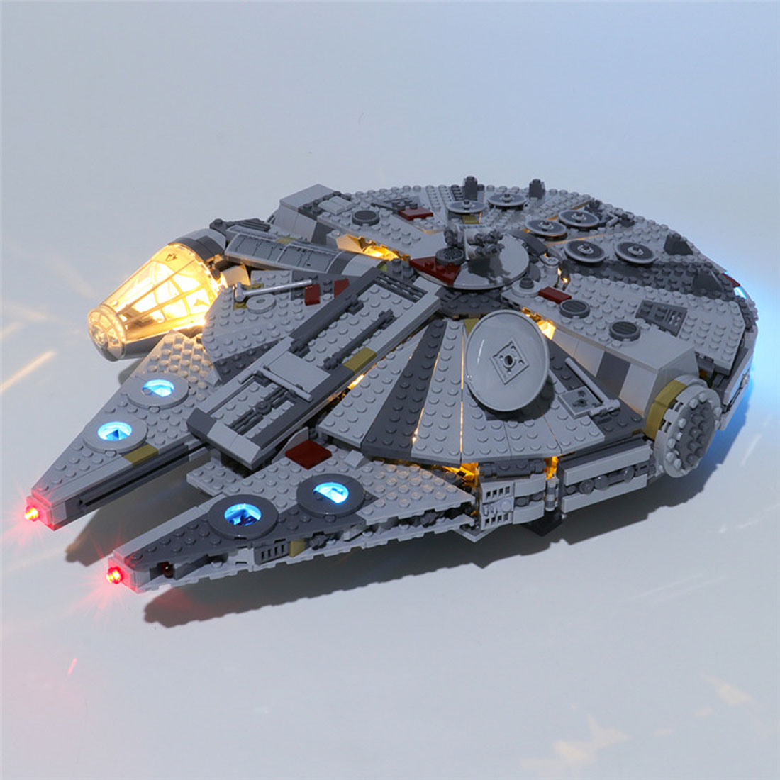 Hot Usb Powered Building Blocks Led Lighting Kit For Star Wars The Rise Of Skywalker Millennium Falcon 75257 Led Only No Kit Aliexpress