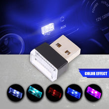 Car Mini USB Light Flexible Neon Ambient LED Light Car Atmosphere Auto Decorative Lamp Car Interior Light Accesories