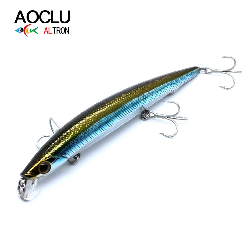 AOCLU Jerkbait wobblers 12.5cm 12.8g Depth 0.8m Hard Bait Minnow Fishing lures magnet weight transfer system for long casting