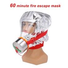 60/40 minut ogień Eacape maska samoratowania Respirator maska gazowa dymu ochronna osłona na twarz osobisty ewakuacji kaptur