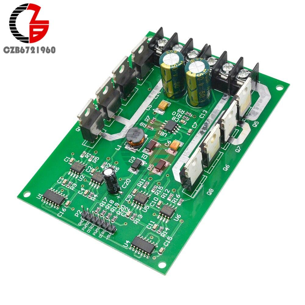 2017 Dual DC Motor Driver Module board H-bridge MOSFET IRF3205 3-36V 15A