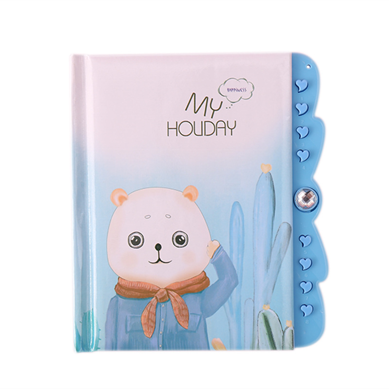 <font><b>Kawaii</b></font> Cartoon Waterproof Password Notebook Cute Cat Travel Diary Journal Pink Paper <font><b>Note</b></font> <font><b>Book</b></font> Boy Gril School Office Stationery image