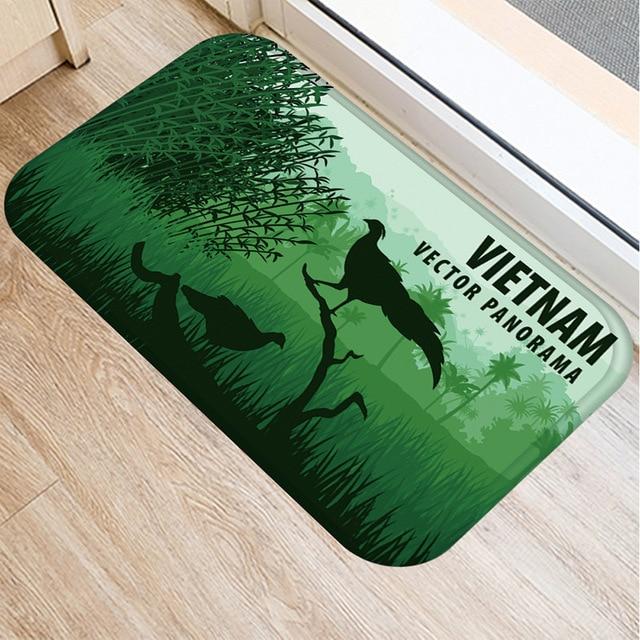 Animal Scenery Non slip Mat Home Bedroom Decoration Soft Carpet Kitchen Living Room Floor Mat Bathroom Non slip Door Mat 40x60cm