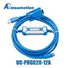 תואם דלתא אה DVP סדרת PLC DOP B סדרת HMI TP טקסט תצוגת תכנות כבל IFD6601 UC PRG020 12A