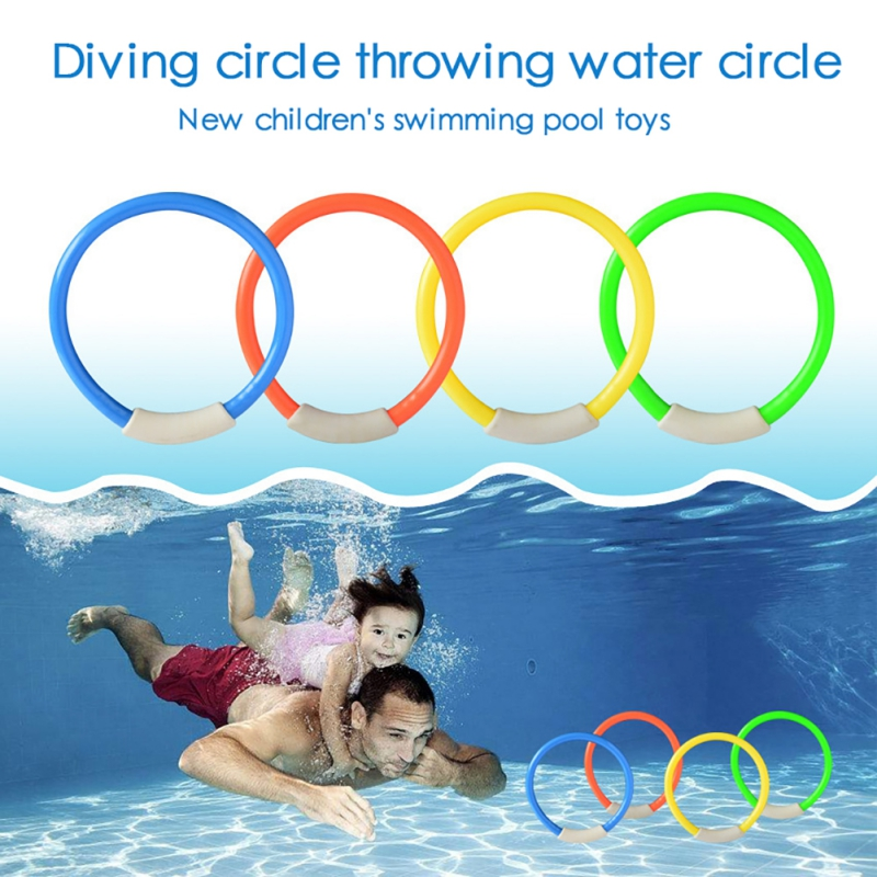 NEW Swimming Pool Throwing Toy Diving Game Toys Set Dive Swim Rings Underwater Summer Dive Accessories Gift For Kids 1 Set