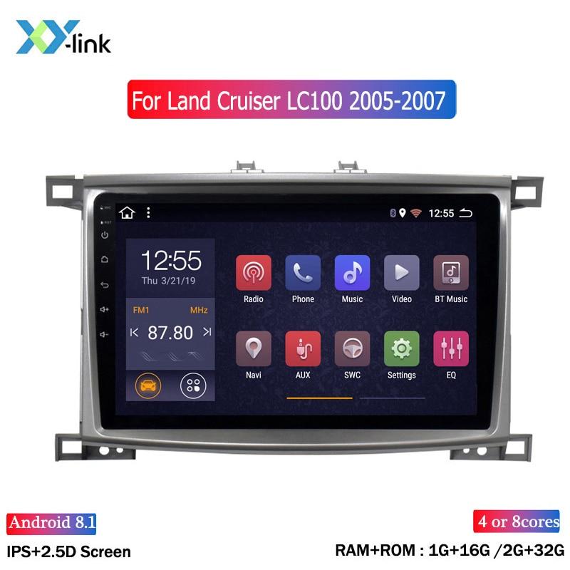Z systemem android 10 cal Radio samochodowe dla Toyota Land cruiser 100 GX LC 100 Stereo nawigacja multimedialna GPS odtwarzacz akcesoria bez 2 din pc