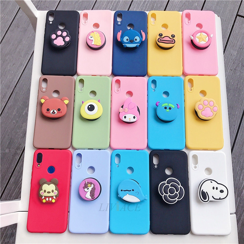 3D Cartoon Phone Holder Standing Case for Xiaomi Redmi Phone Made Of High-Quality Silicone And TPU Material 32