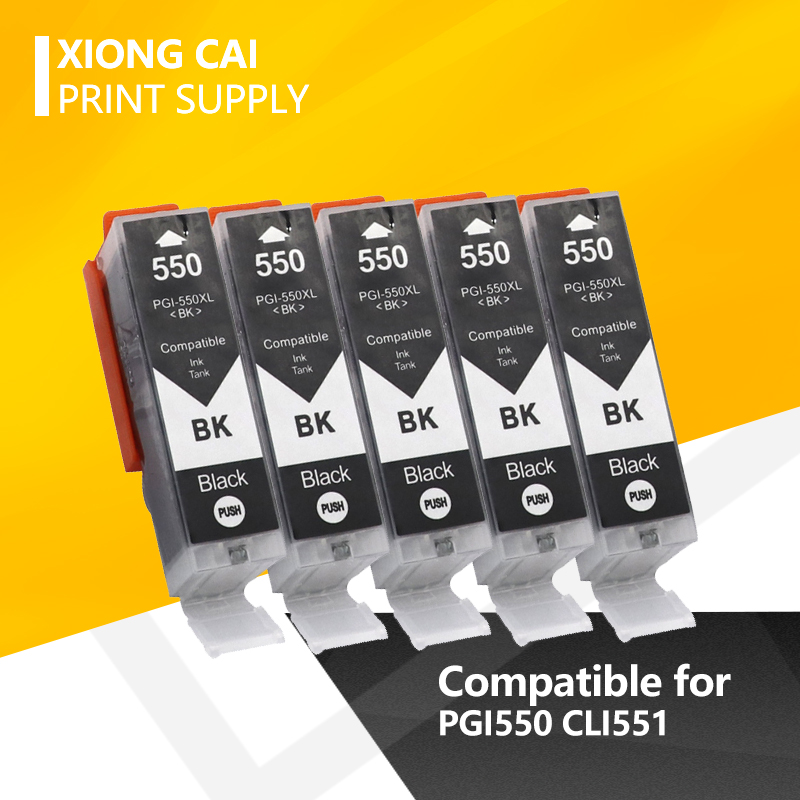2020 черный PGI550 чернильный картридж для Canon PGI 550 XL PIXMA IP7250 MG5450 MX925 MG5550 MG6450 MG5650 MG6650 IX6850 MX725 принтер