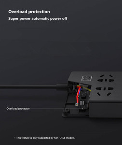 Image 5 - Xiaomi Mijia Power Strip 1.8m(5.9ft) 6Sockets 10A 250V 2500W 3USB Port 5V 2.1A Fast Charging Overload Protection High Quality Pl