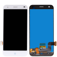 For ZTE Blade S6 Full LCD Display + Touch Screen Digitizer Assembly Replacement Parts lcd screen touch glass digitizer for samsung galaxy s6 active g890a white replacement pantalla parts