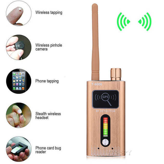T6000 RF Signal Detector Anti Candid Hidden Camera Spy Gadgets Espias GSM GPS Tracker Wireless Audio Bug for Wiretapping Finder 1