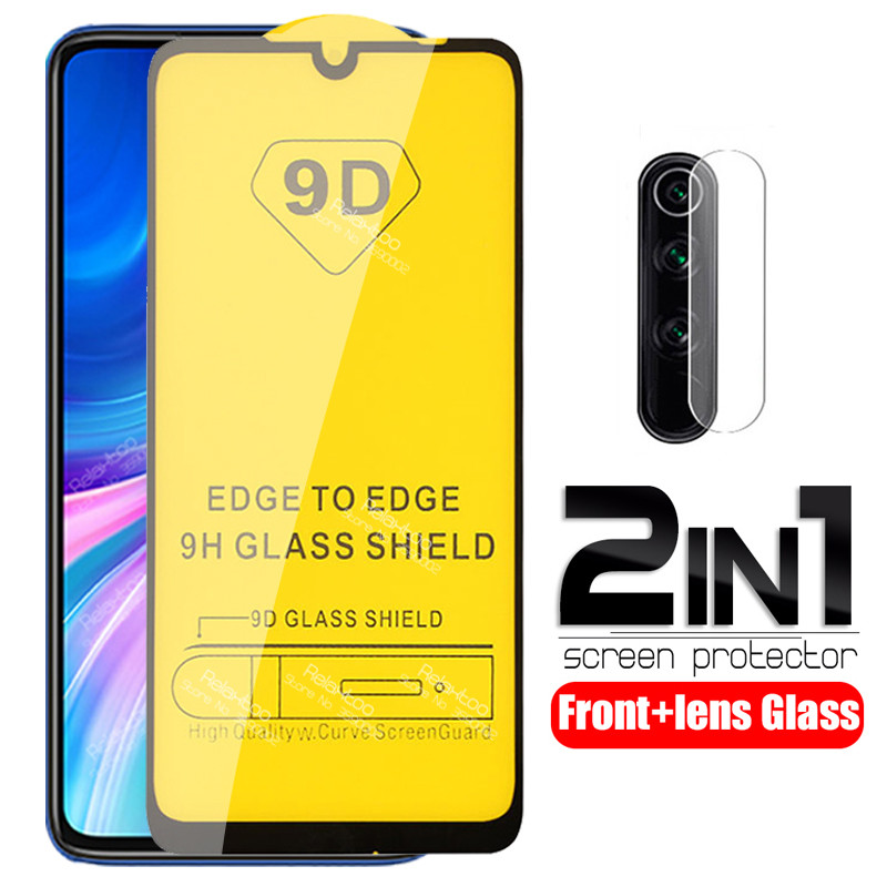 2 in 1 camera lens Glass For xiaomi redmi note 8 pro protective Glass screen protector on xiomi redmi note 8t 8 t 9D Cover Film(China)