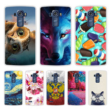 Case for LG G4 Soft Silicone TPU Cool Pattern Printed Phone Cover Coque for LG H815 Case Cover(China)